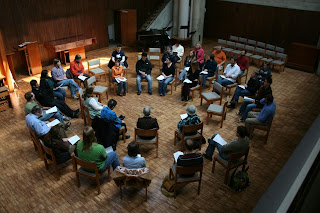 A Quaker Meeting in Candler's Cannon Chapel.