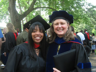 Evita Smith, MDiv 09, with Dean Jan Love.