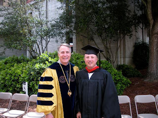Father David (right), with Emorys 22nd President James Wagner (referred by undergrads, affectionately, as J Wag.)