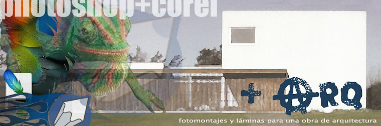 photoshop+corel+ARQUITECTURA