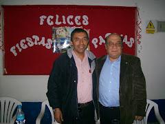 RUBEN NERIO VILCHEZ REGIDOR POR EL PARTIDO APRISTA PERUANO DE VES, EN LA FOTO CON WILBERT BENDEZU