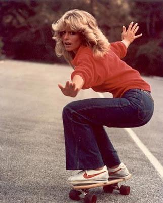 Farah Fawcett Skateboard
