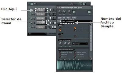 elementos del secuenciador por pasos de FL Studio para cargar un sonido