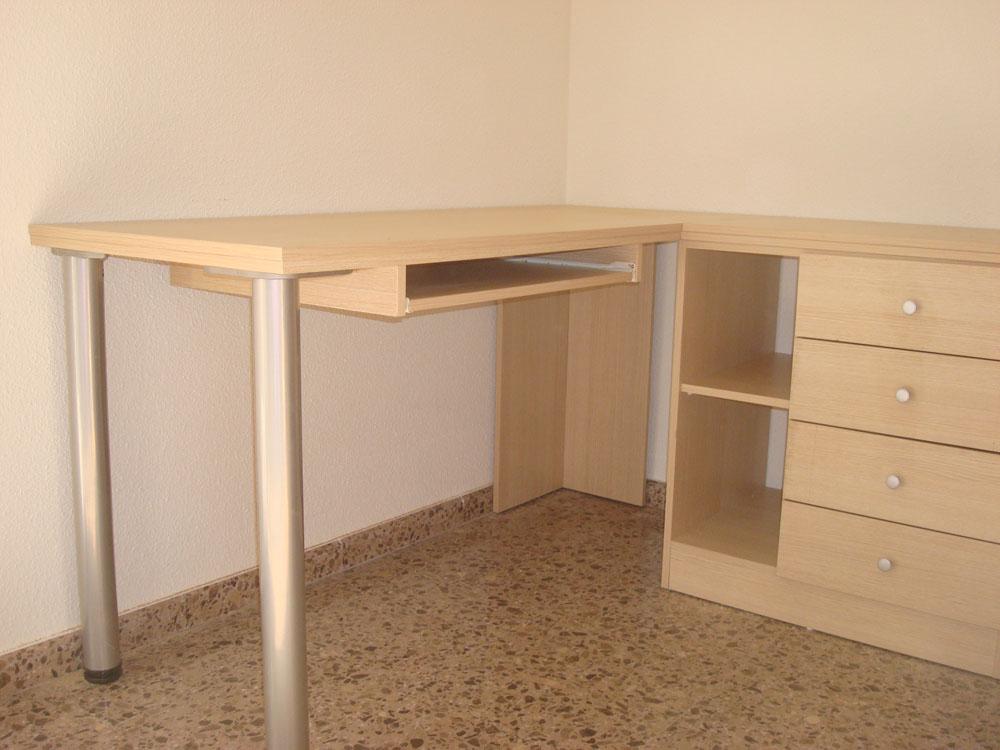 Carpinteria paco y ricardo escritorio y mueble combinado for Mueble escritorio ordenador
