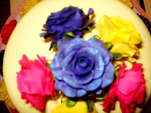 Close up of flowers on Easter Cake
