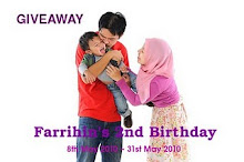 Farrihin's 2nd Birthday Giveaway