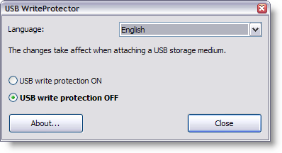 write protect your USB drive