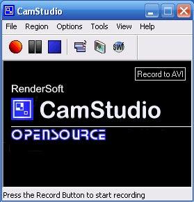CamStudio Main Screen