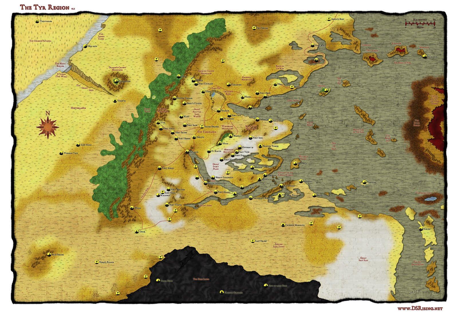 Plano de la Región de Tyr
