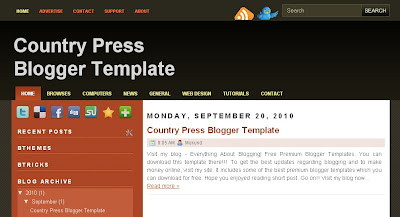 country-press-blogger-template