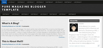 Pure-Magazine-Blogger-Template