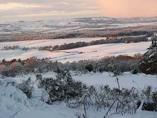 Recent snow near Microsupply Scone, Perth, Scotland