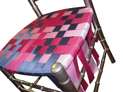 ck bradley DIY grosgrain ballroom chair