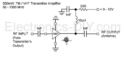 FM-VHF Amplifier Booster Transmitter Circuit Diagram