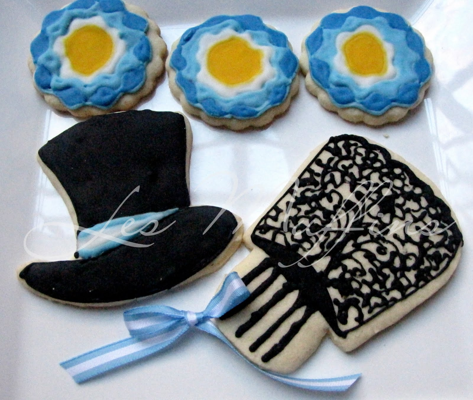 cupcakes argentinisimos con wrappers de la bandera argentina