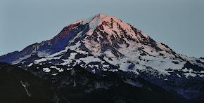 Mt. Rainier Watercolor Art Canvas $125