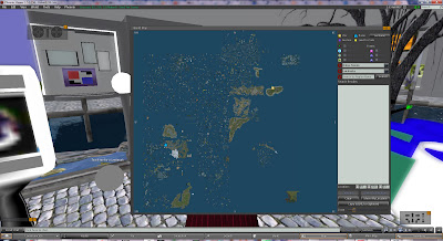 image with map of StarZ Art Corner in Second Life