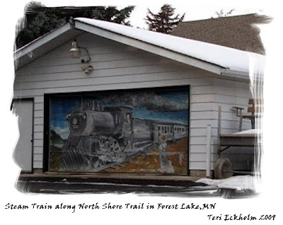 Steam Train Art in Forest Lake by Teri Eckholm, Realtor