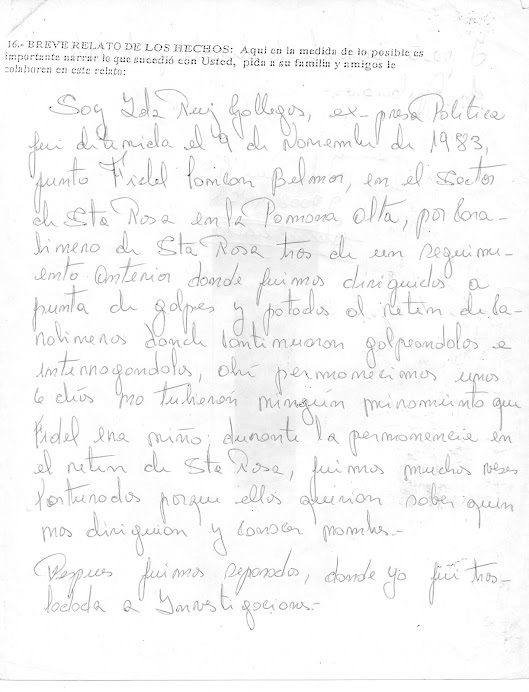 DECLARACIÓN DE COMPAÑERA RUIZ GALLEGOS IDA ¡¡MARICHI WEU!!