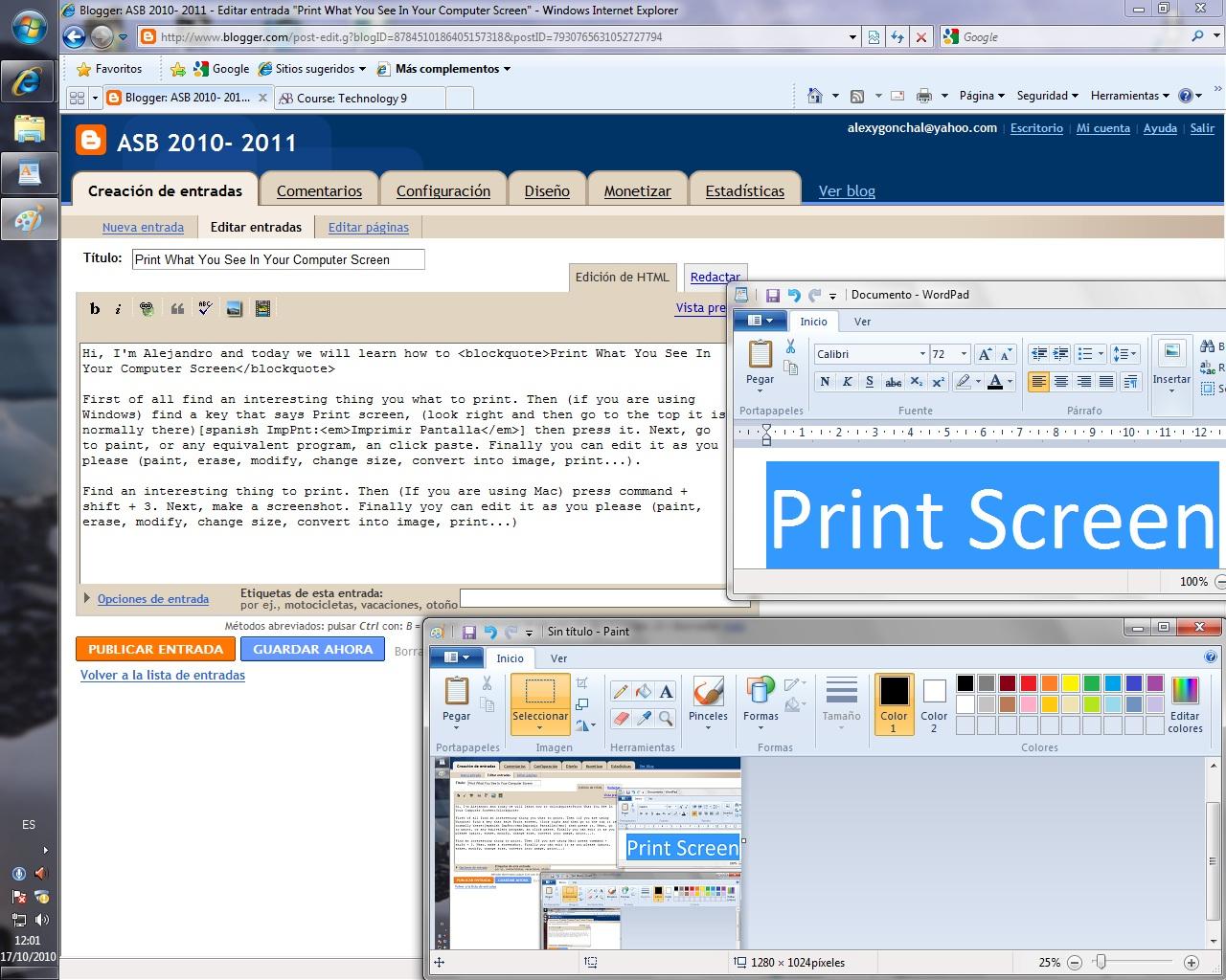 Imprimir Pantalla En Windows 7 Con Un Mac