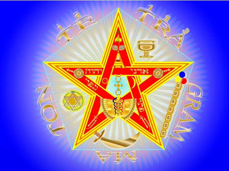 Esoterismo:  El Pentagrammaton o Tetragrammaton Pentgrama-esoterico