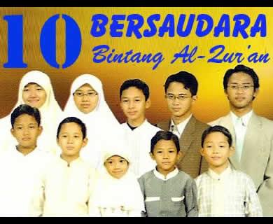 10 Bersaudara Sudah Hafal Qur'an di Usia Anak-Anak