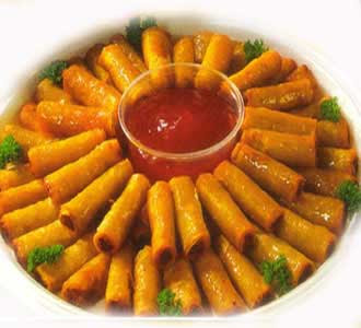in filipino lumpia are eggrolls that are deep fried like a wrapped ...