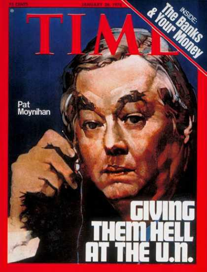 Time Magazine cover of UN Ambassador Daniel Patrick Moynihan