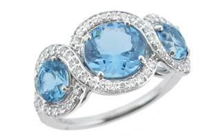 Christian Tse aquamarine gold ring