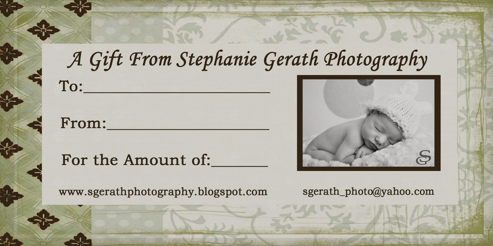 Gift CertificatesPhotography Gift Certificate Ideas