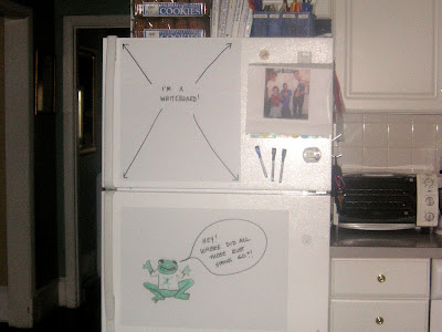 Refrigerator as a whiteboard/dry erase board
