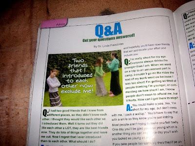 Yaldah Magazine Q&A column