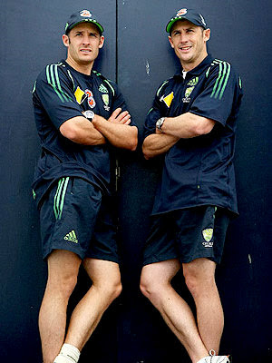 Australian Brothers - Mike Hussey and David Hussey