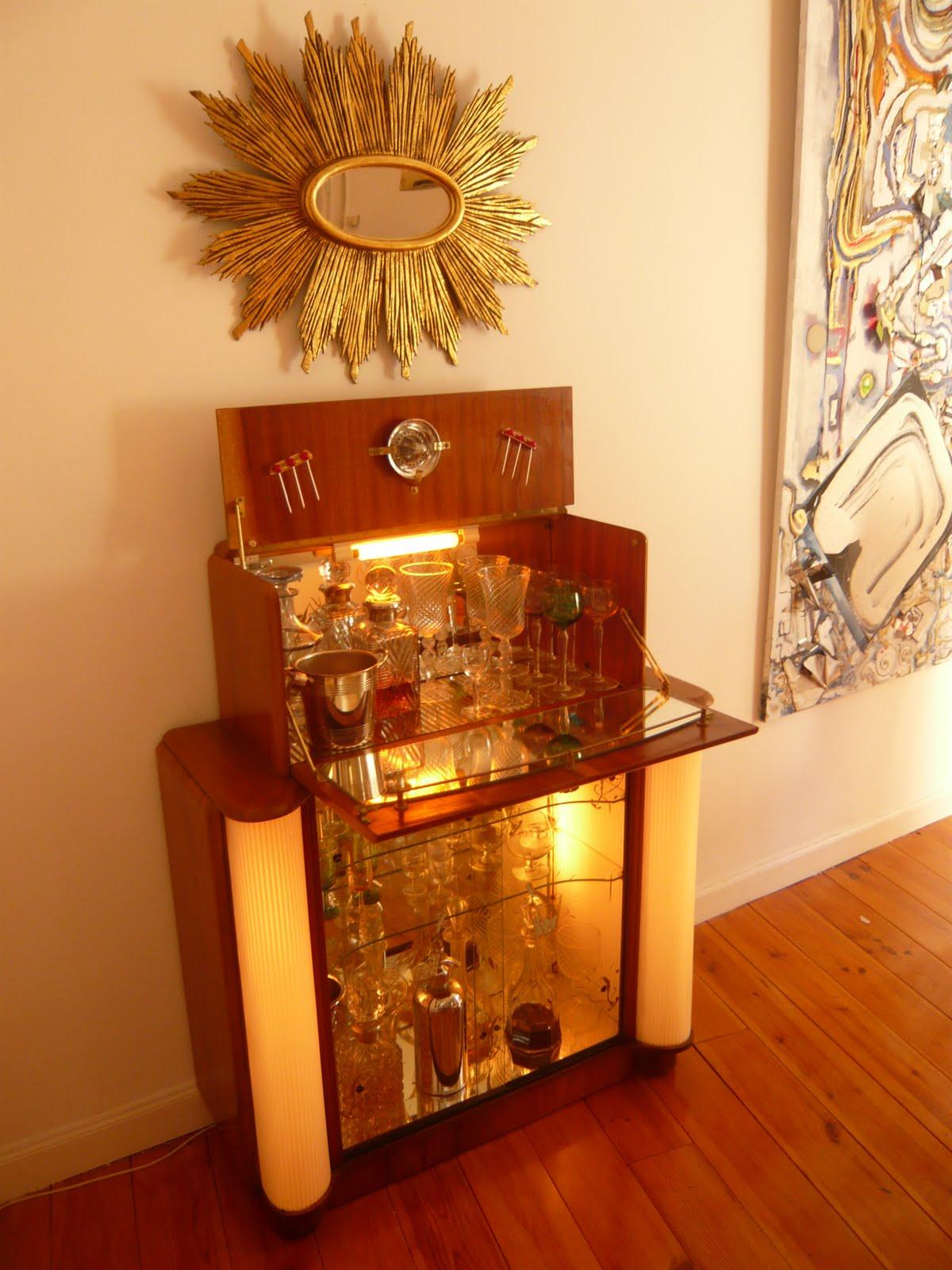 Mueblebar mueble cocktail ingl s a os 50 - Muebles anos 50 ...