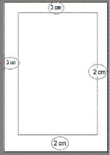 Encabezado de las páginas subsiguientes entre 2cm y 3cm.