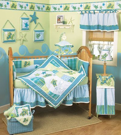 Girl Turtle Crib Bedding