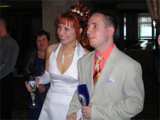 Саша и Юля принимают поздравления