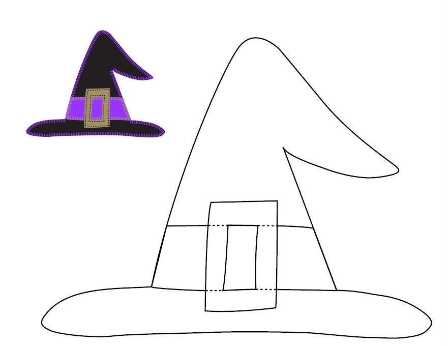 Impertinent image intended for witches hat template printable