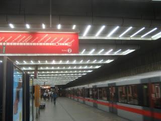 Prague Metro Sign