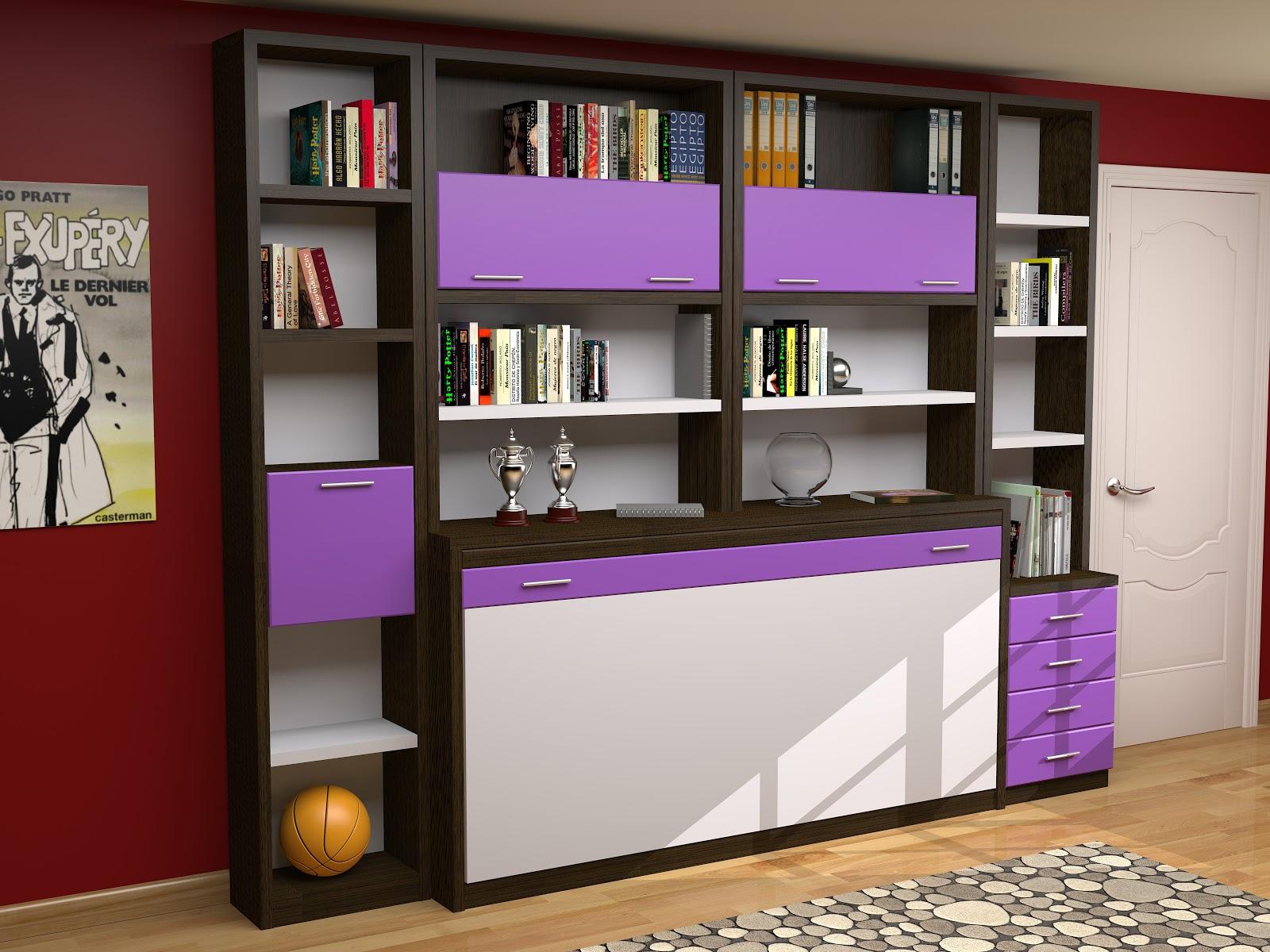 Camas abatibles en madrid camas abatibles toledo cama for Diseno de libreros para espacios pequenos
