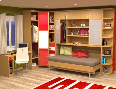 Camas abatibles en madrid camas abatibles toledo cama for Dormitorio juvenil cama alta