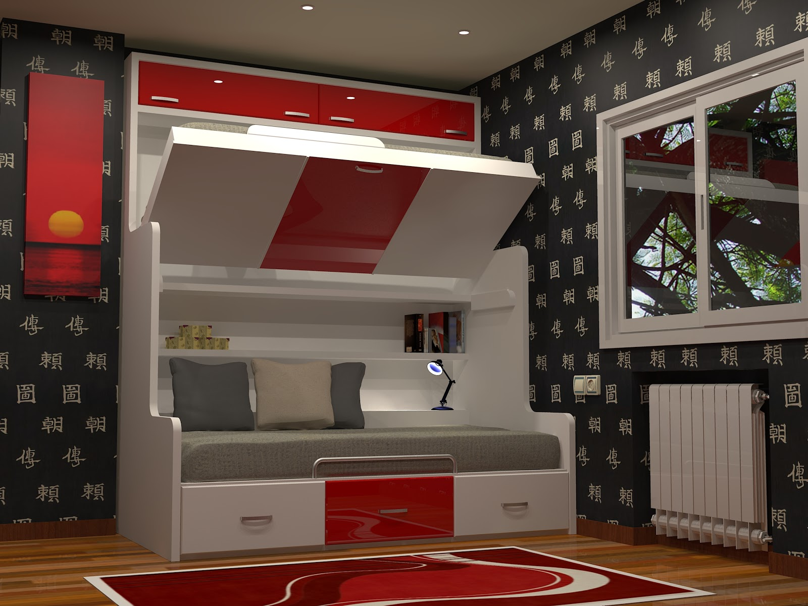 litera nido abatible mueble litera nido abatible litera divan cama convertible dormitorios juveniles para espacios reducidos
