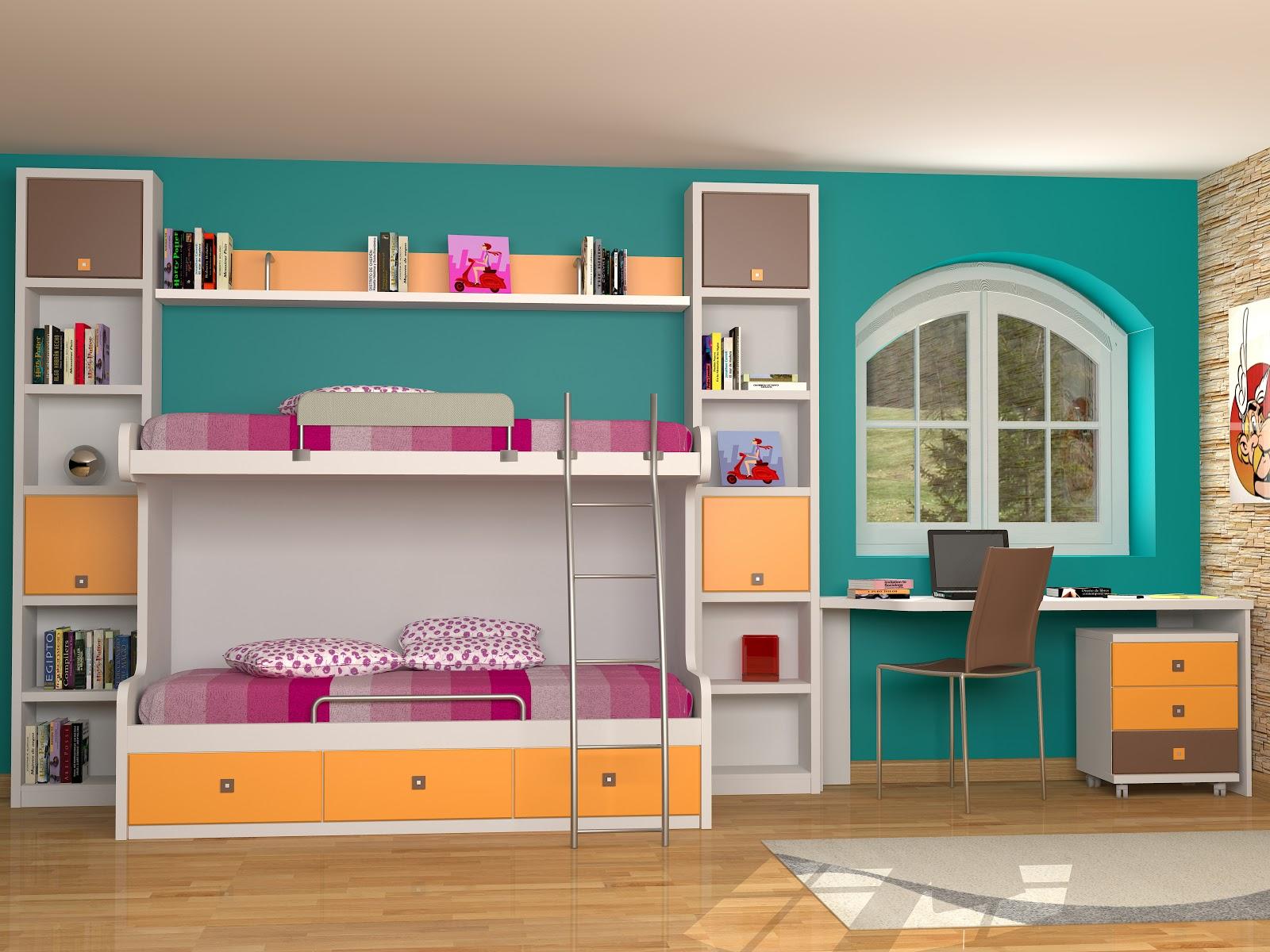 Tienda dormitorios juveniles decoraci n integral para tu habitaci n litera nido fija - Dormitorios juveniles espacios pequenos ...