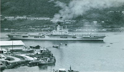 hnlms karel doorman r81 in hollandia dutch new guinea Kekuatan Militer Indonesia Era Soekarno (1960)