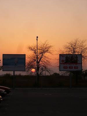 Sunset in the Technomarket Car Park