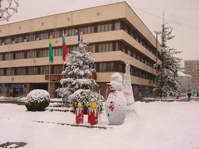 Snow in Yambol