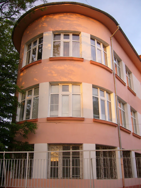 Rounded Pink Yambol School Building