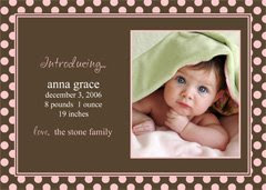 Birth Announcements - Need Some Help?