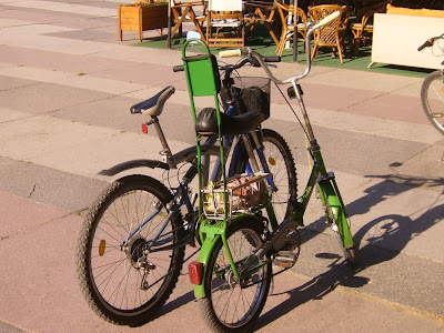 Two Typical Bulgarian Bicycles Parked Up