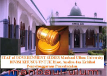STAF of GOVERENMENT STUDIES Manbaul Ullum University (Click Gambar di Bawah ini)